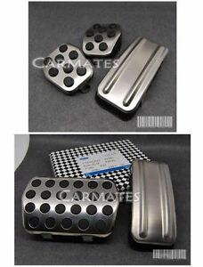 Car-Pedal-Pad-Cover-Accelerator-Brake-Clutch-Stainless-Ford-Focus-RS-05-12-MT-AT