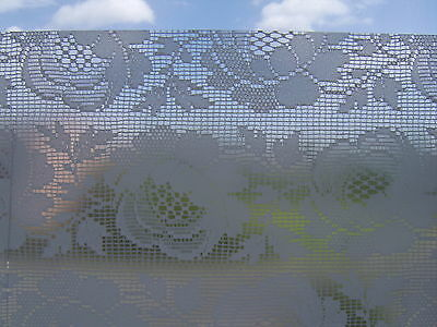 DC FIX FROSTED GLASS WHITE FLOWER STICKYBACK PLASTIC VINYL FILM SELF ADHESIVE