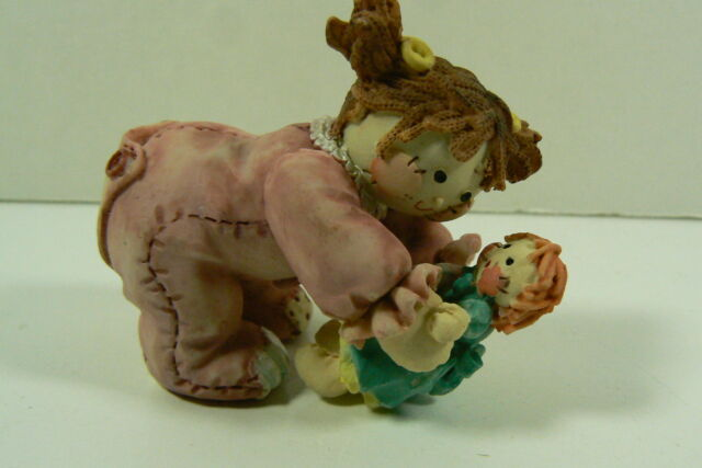 Enesco 1994 Cute As A Button Sew Special IT'S A GIRL Figurine ~L@@K~ 167460