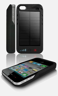IPhone 4 4S Extended Solar Battery Charger External Case/Cover Brand New