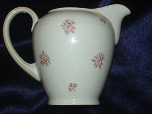 eschenbach bavaria roswitha creamer small pitcher pink flowers lattice elfenbein ebay. Black Bedroom Furniture Sets. Home Design Ideas