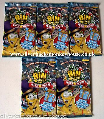 Bin Weevils Mulch Mayhem Trading Card Game 5 Packets / Packs of Cards. Free P&P