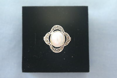 New Sterling Silver Mother of Pearl Ring SZ 6 7 8