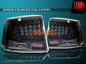 06 07 08 dodge charger sedan 4 door dark smoke tail lights. Black Bedroom Furniture Sets. Home Design Ideas