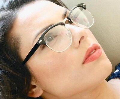 Vintage Clear Lenses Black Women Men Unisex Wayfarer Eye Glasses Eyeglasses HOT