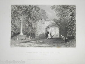 Scone-Market-Cross-Perthshire-Original-1837-Antiquarian-Scottish-Engraving