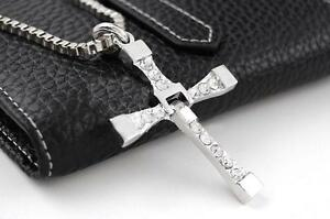 THE-FAST-and-THE-FURIOUS-Movie-1-2-3-4-5-Vin-Diesel-Silver-Cross-Necklace-BH079