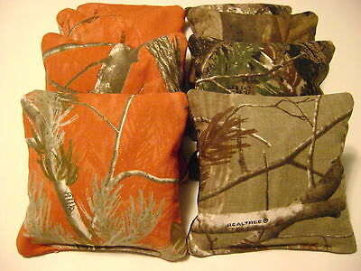 8 CORNHOLE BEAN BAGS REALTREE CAMO ALL WEATHER WATERPROOF WASHABLE HIGH QUALITY