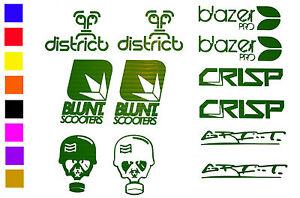 12 x Stunt Scooter Stickers - Blazer Pro - Grit - Crisp ...