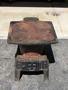 Wood burner coal pellet stove montgomery ward antique ...