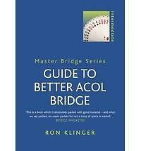 GUIDE TO BETTER ACOL BRIDGE BY RON KLINGER MASTER BRIDGE SERIES EX/MINT