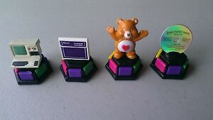 TRIVIAL-PURSUIT-1980s-Pawns-Movers-Tokens-Care-Bear-Computer-CD-Trapper-Keeper