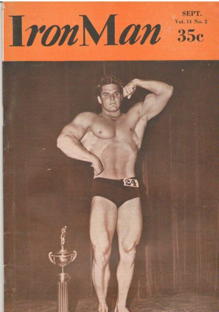 Vintage Rare IronMan Dick Dubois 1954 Mr America Contest Bodybuilding 9-54