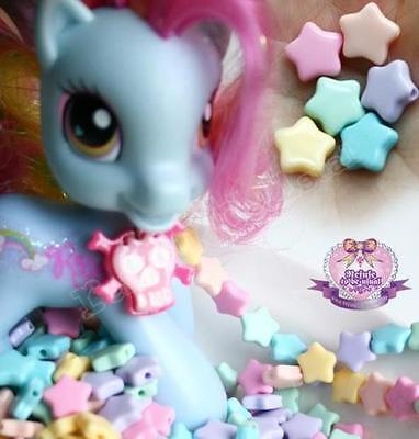465 Decora Fairy kei Lolita Cosmic DIY Pastel Star Candy Bead Deco Den Decoden
