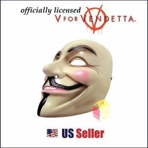 Official-V-for-VENDETTA-Halloween-MASK-Prop-Costume-GUY-Fawkes-FREE-EXP-SHIPPING