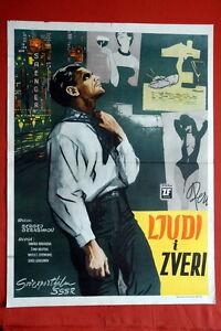 LYUDI-I-ZVERI-RUSSIAN-ZHANNA-BOLOTOVA-1962-TAMARA-MAKAROVA-EXYU-MOVIE-POSTER