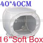 "40cm/16"" Photo Studio Soft Box Cube White Light Tent 4040cm/16"" Softbox"