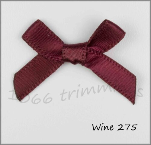 7mm Satin Ribbon Bows Per 25 Large Choice of Colours Size 30 x 22mm Free P/&P