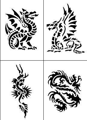 T02 - Dragons Temporary Tattoo Stencils