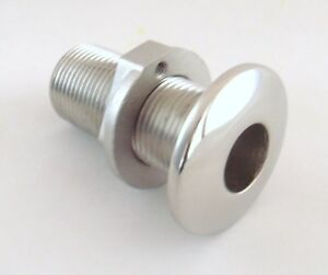 """New 3/4"""" Thread Cast Stainless Steel Polished Boat Thru Hull Threaded Fitting"""