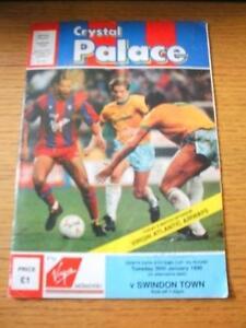 13-02-1990-Crystal-Palace-v-Swindon-Town-Zenith-Data-Systems-Cup-Programme-Da