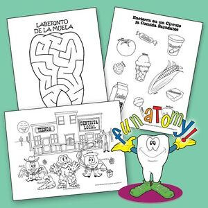 Spanish Dental Health Educational Coloring And Activity Book