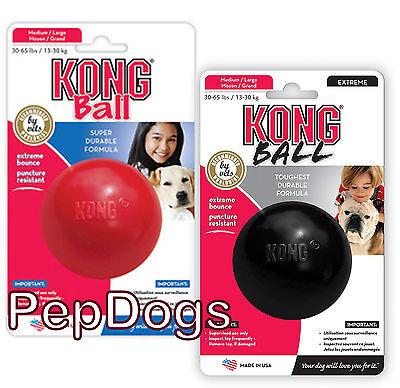"KONG Dog DURABLE Rubber Ball Toy 3"" Medium / Large Treat Dispenser"