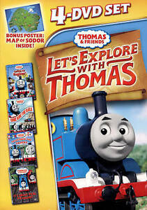THOMAS-AND-FRIENDS-LETS-EXPLORE-WITH-THOMAS-DVD-2012-4-Disc-Set-NEW