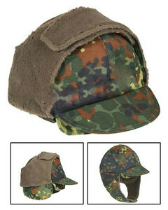 German-Army-Surplus-Flectarn-Winter-Hat-With-Pull-down-ear-flaps