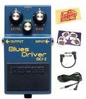 Boss US Boss Bd-2 Blues Driver Guitar Effects Pedal Bundle