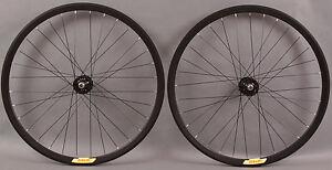 Velocity-Deep-V-ALL-BLACK-Fixed-Gear-Wheels-Wheelset-Singlespeed-Track-32-Hole