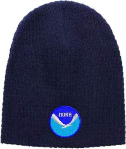 Beanie Hat Available in 5 Colors NOAA Logo Embroidered Skull Cap