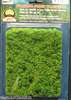 JTT SCENERY 95057 FIBER CLUSTER LIGHT GREEN  COARSE  HO/O SCALE    JTT95057