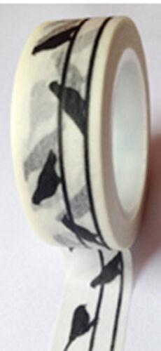 Washi Tape 15mm x 10+m Roll Decorative Sticky Paper Masking Tape Adhesive Gift