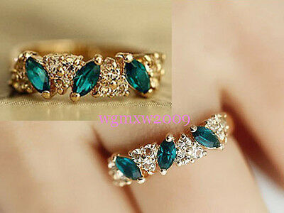 New arrival of fashion  crystal Gold & silver Ring 01R8