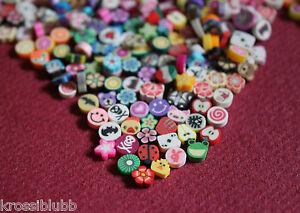 100 fimo perlen zum kleben mix ohne loch ohrstecker basteln bunt 0 5 cm schmuck ebay. Black Bedroom Furniture Sets. Home Design Ideas