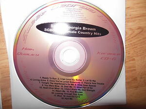 Details about Sweet Georgia Brown 0015 ( Female Country Hits) Karaoke CDG