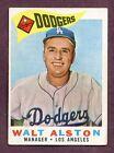 1960 Topps Walt Alston Los Angeles Dodgers #212 Baseball Card