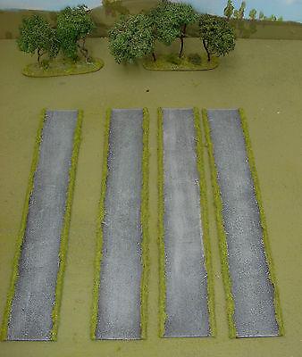 Wargames 15mm metalled flexi roads No 1 FOW FOG handmade by FAT FRANK
