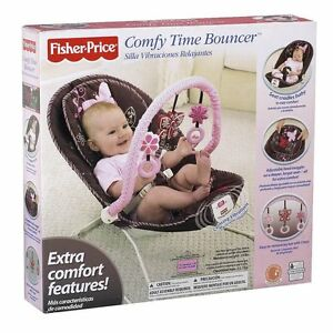 FISHER-PRICE-BOUNCER-CHAIR-COMFY-TIME-BUTTERFLY-MOCHA-T2520-In-Stock-NOW
