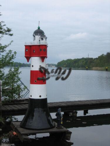 XXL LEUCHTTURM ROTER SAND 270 cm mit DOPPELLICHT Garten Deko maritim Nordsee