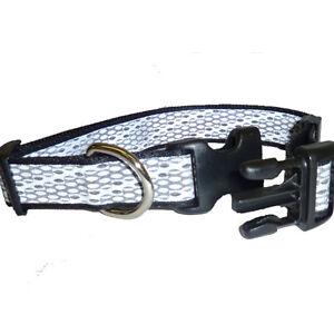 BMH46941-Black-Silver-Fits-Neck-18-26-Adj-Reflective-Large-Dog-Collar