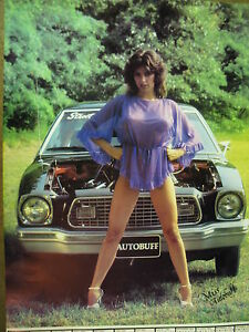 details about set of 6 autobuff girl and musclecar car posters