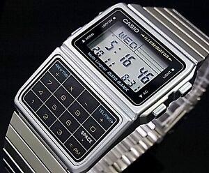 db408b40952 Image is loading CASIO-Vintage-Retro-Calculator-Data-Bank-Silver-DBC611-