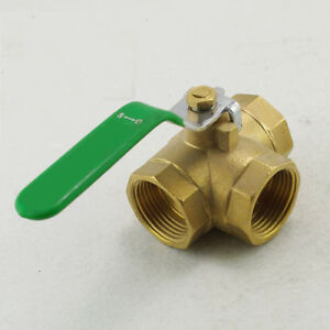 3-4-inch-BSPP-Female-Full-Ports-Brass-Ball-Valve-T-Type-Three-Way-Connection