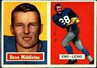1957 Topps Dave Middleton Detroit Lions #8 Football Card