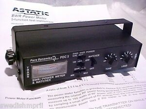 Astatic-Para-Dynamics-Cb-Ham-Radio-PDC5-Power-SWR-Watt-Meter-ANTENNA-TUNER