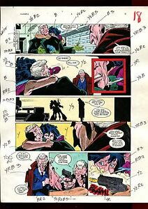 HUNTRESS 6 PAGE 14 COLOR GUIDE-ORIGINAL ART-1 OF A KIND-CAVALIERI-STATON-SMITH