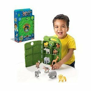 Fisher-Price-Go-Diego-Safari-Rescue-Animal-Carrying-Case-Baboon-amp-Hyena-Figures