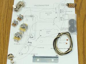 new jazzmaster pots switch wiring kit for fender guitar. Black Bedroom Furniture Sets. Home Design Ideas